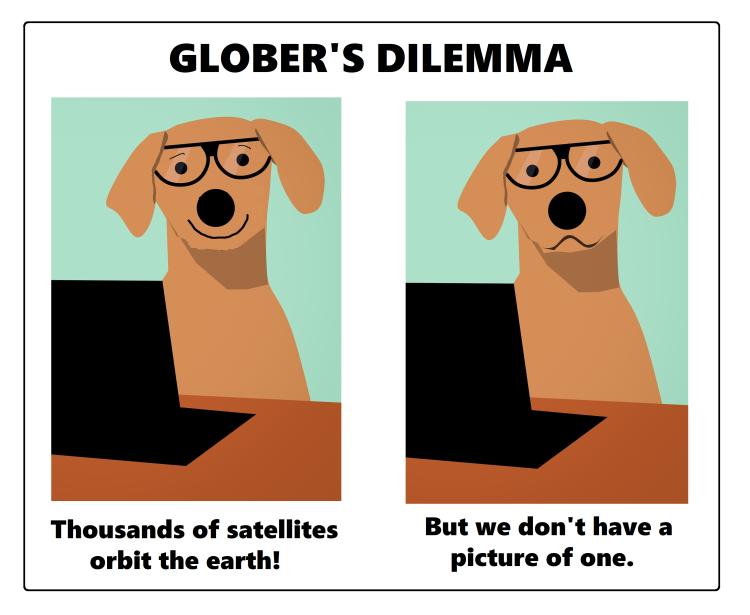 FLAT_EARTH_DOG_DILEMMA_SATELLITE