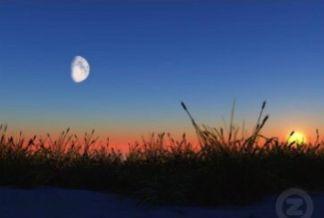 sun moon same sky