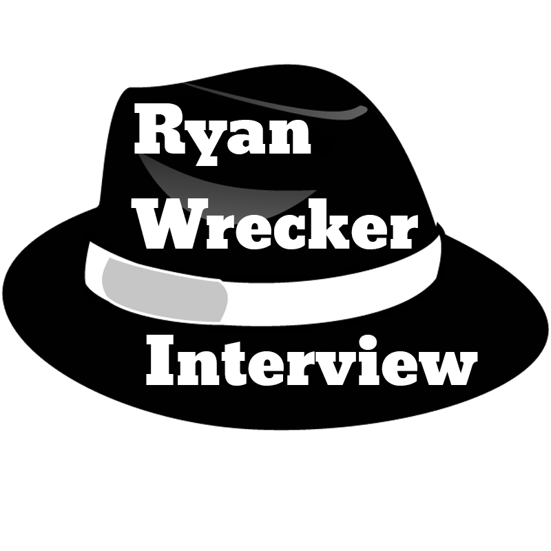 A black Fedora with the words Ryan Wrecker Interview