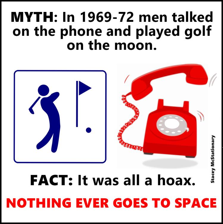 nobody moon golf telephone